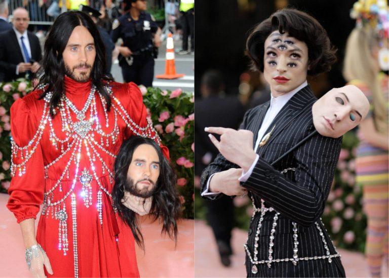 Jared Leto (con dos cabezas) y Ezra Miller (con siete ojos) entusiasman (y espantan) en la gala Met